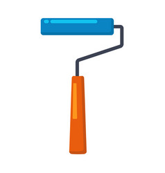 paint roller brush repair tool painter vector image