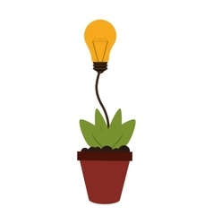 plant and lightbulb idea icon vector image