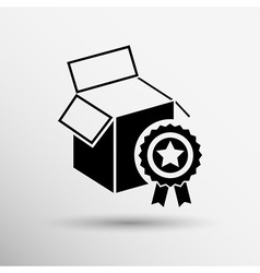 PREMIUM box packing design isolated icon vector image