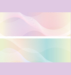rectangle background set with wavy patterns vector image