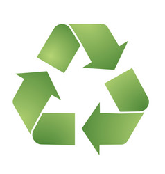 recycle symbol for eco environments vector image