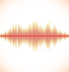 Red sound waveform with triangular arrows vector