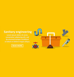Sanitary engineering banner horizontal concept vector