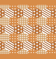 seamless pattern on a orange background vector image