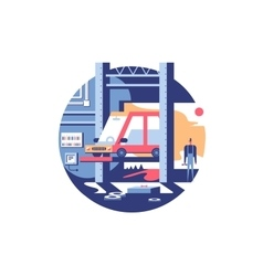 Service auto repair icon vector image