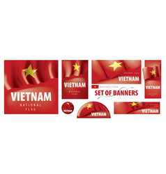 set banners with national flag of vector image
