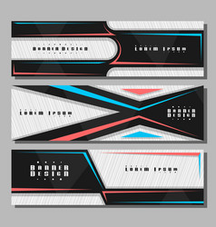 set horizontal futuristic banners vector image