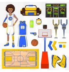 Set of basketball elements vector
