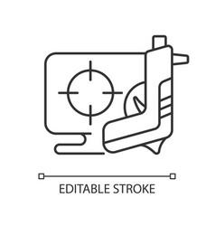Shooter game linear icon vector