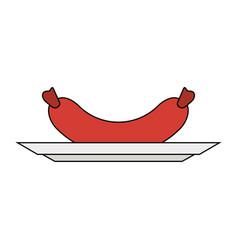 Single sausage icon image vector