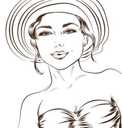 sketchy line art a sexy vector image