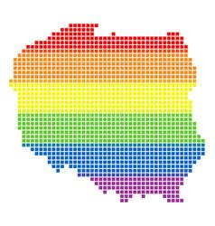spectrum pixel lgbt poland map vector image