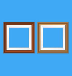 Square frames for pictures and photos vector