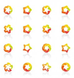 stars icons vector image