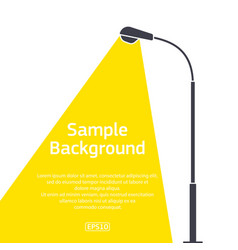 street lighting pole dark colour with sample text vector image