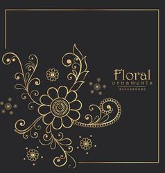stylish floral pattern design background vector image