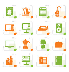 Stylized home equipment icons vector