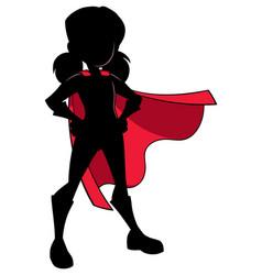 Super girl silhouette vector