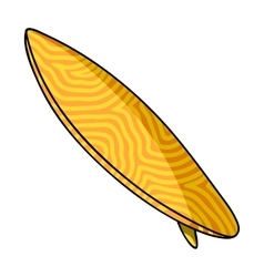 Surfboard icon in cartoon style isolated on white vector image