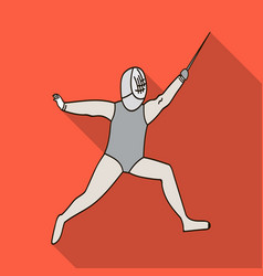 the athlete outfit with a swordfencing vector image