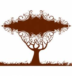 tree banner vector image