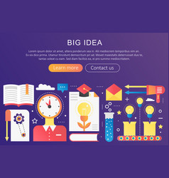 trendy flat gradient color big idea concept vector image