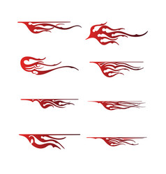 Tribal vehicle graphic flame vehicle graphic wrap vector