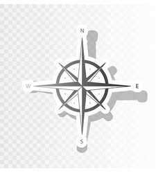 wind rose sign new year blackish icon on vector image