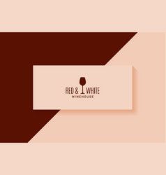 wine vintage card red and white glass banner vector image