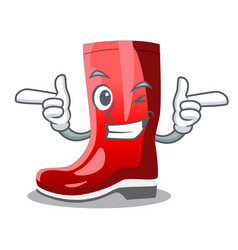 Wink single of boots isolated on mascot vector
