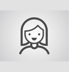 woman icon sign symbol vector image