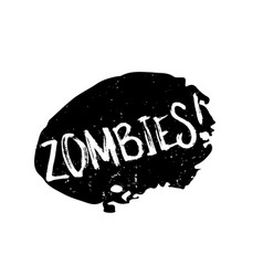 Zombies rubber stamp vector