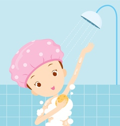 Girl bathing vector image