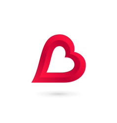letter b heart logo icon design template elements vector image vector image
