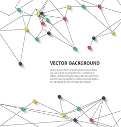 polygonal background2 vector image vector image