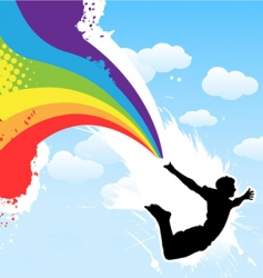 rainbow men vector image