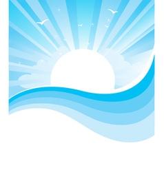 Seascape nature vector image