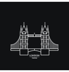 Tower bridge Icon vector image vector image
