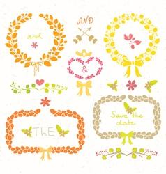 Wedding romantic set vector
