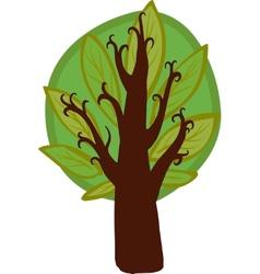 Big cartoon hazel Tree Isolated vector image