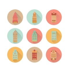 europe house set vector image vector image
