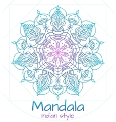 Mandala thin line indian style vector image vector image