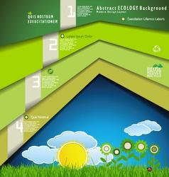 Modern Ecology design template vector image