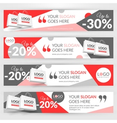 Set with banners for web site for sale vector image