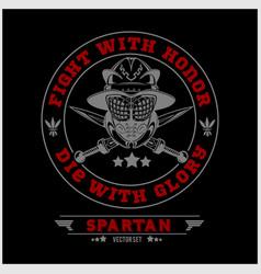 spartan team logo and emblems - set vector image