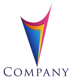 beautiful corporate emblem design template for you vector image