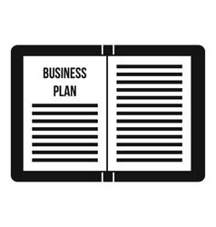 Business strategy plan icon simple style vector image vector image