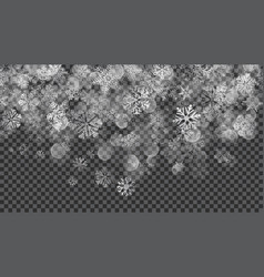 christmas background of translucent falling vector image vector image