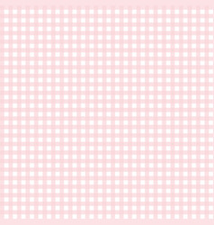 cute pink gingham pattern vector image vector image