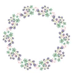 flower frame for your design vector image